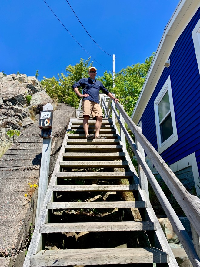 Steep steps up to Signal Hill - photo by Karen Anderson
