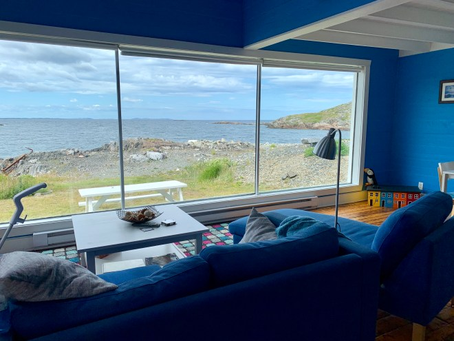 View from one of the Old Salt Box Co cottages on Fogo Island, NL - photo by Karen Anderson
