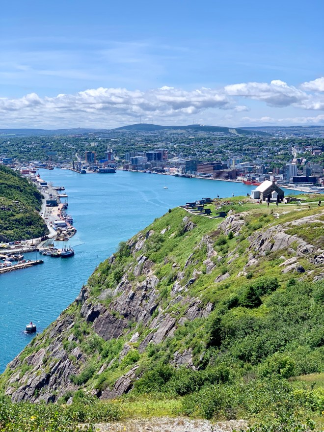 Queen's Battery and St. John's, NL harbour - photo by Karen Anderson
