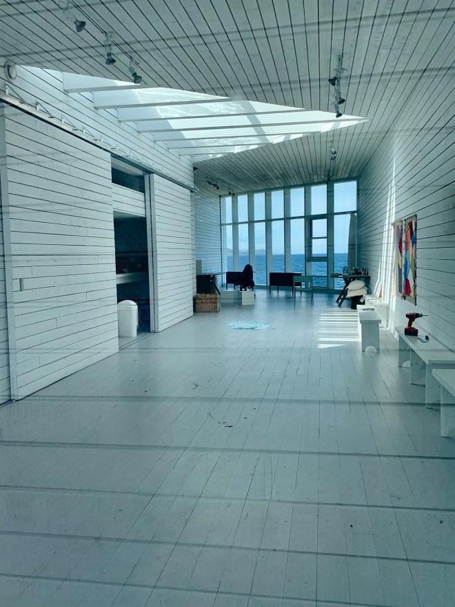 Interior of Long Studio, Fogo Island, NL