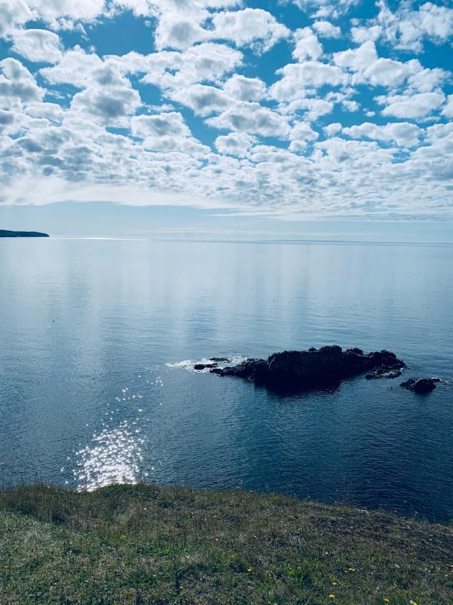 Calm ocean on Skerwink Trail, NL