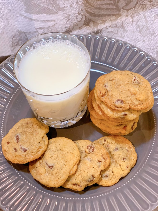 Milk and cookies are an invitation to make this recipe