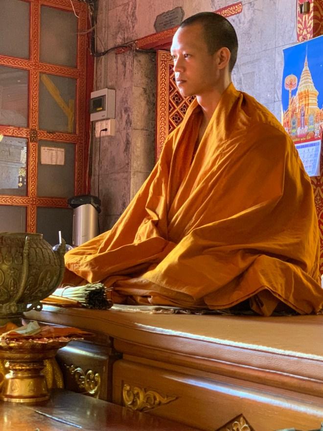 Monk in golden robe