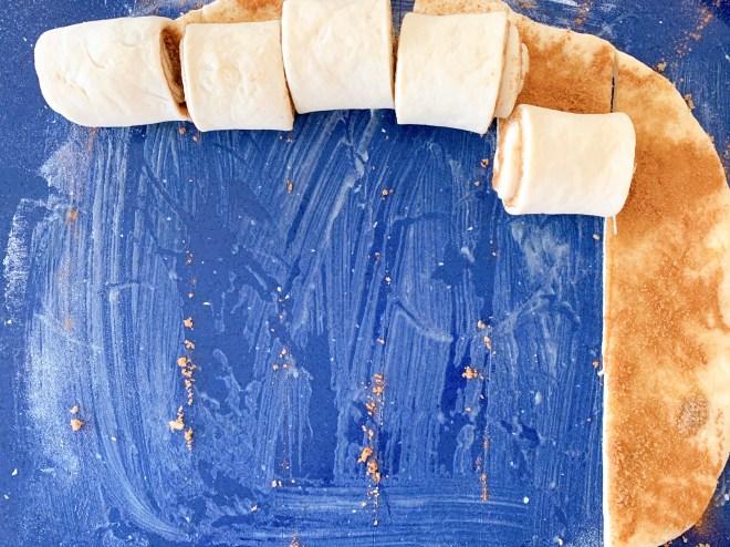 Rolling the Hermione Sweet Sourdough Cinnamon Rolls