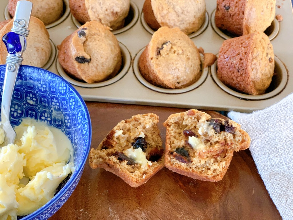 Hermione Sweet Sourdough Cinnamon Orange Date Muffins