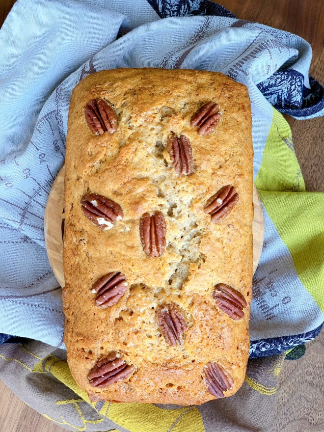 Hermione Sweet Sourdough Banana Pecan Bread - aerial view