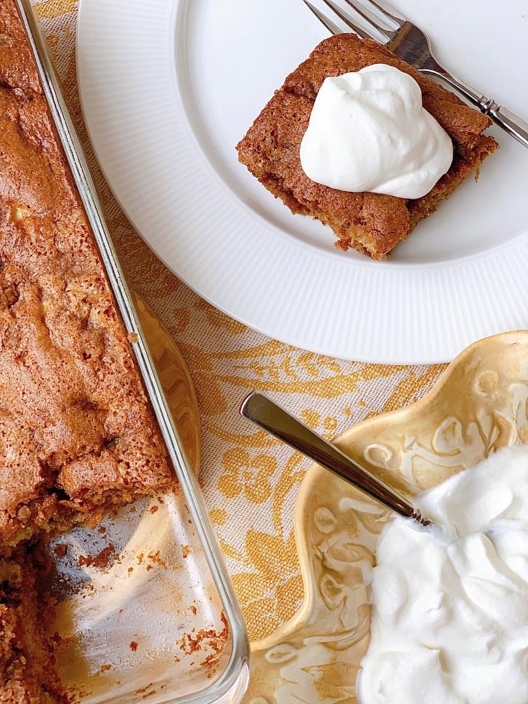 Hermione Sweet Sourdough Apple Coffee Cake - first piece