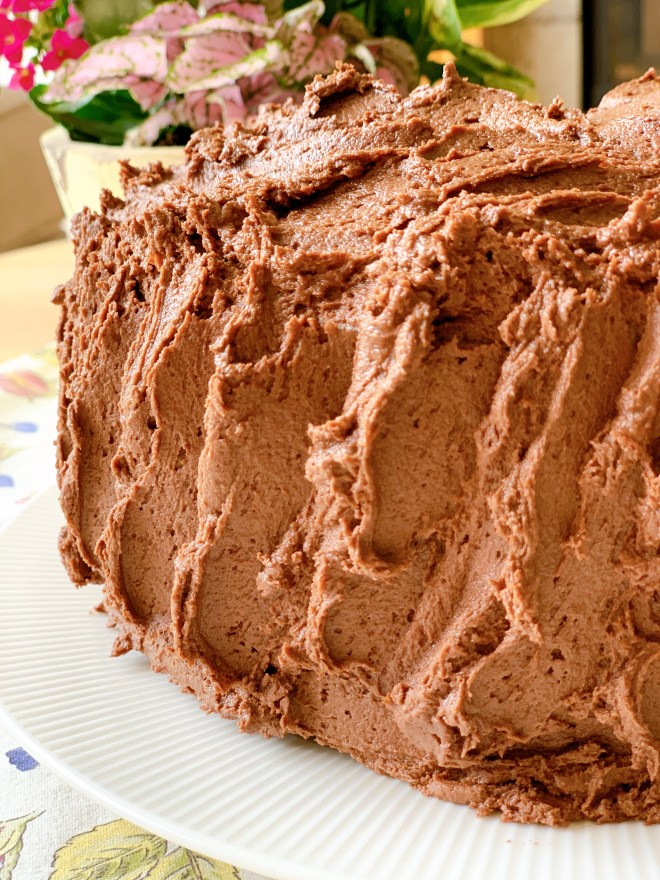 Hermione Sweet Sourdough Chocolate Cake - close up of frosting