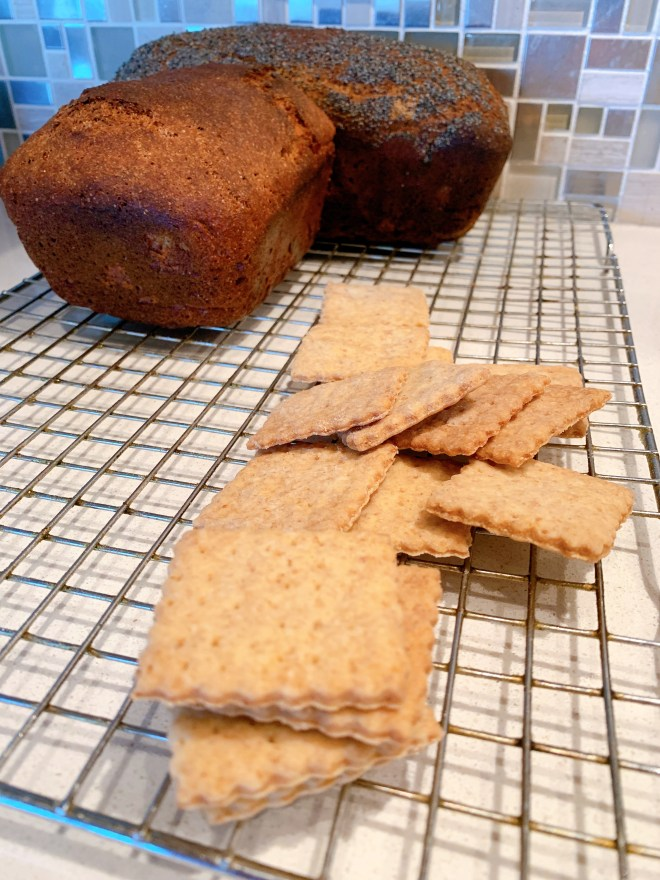 homemade Red Fife Wheat crackers