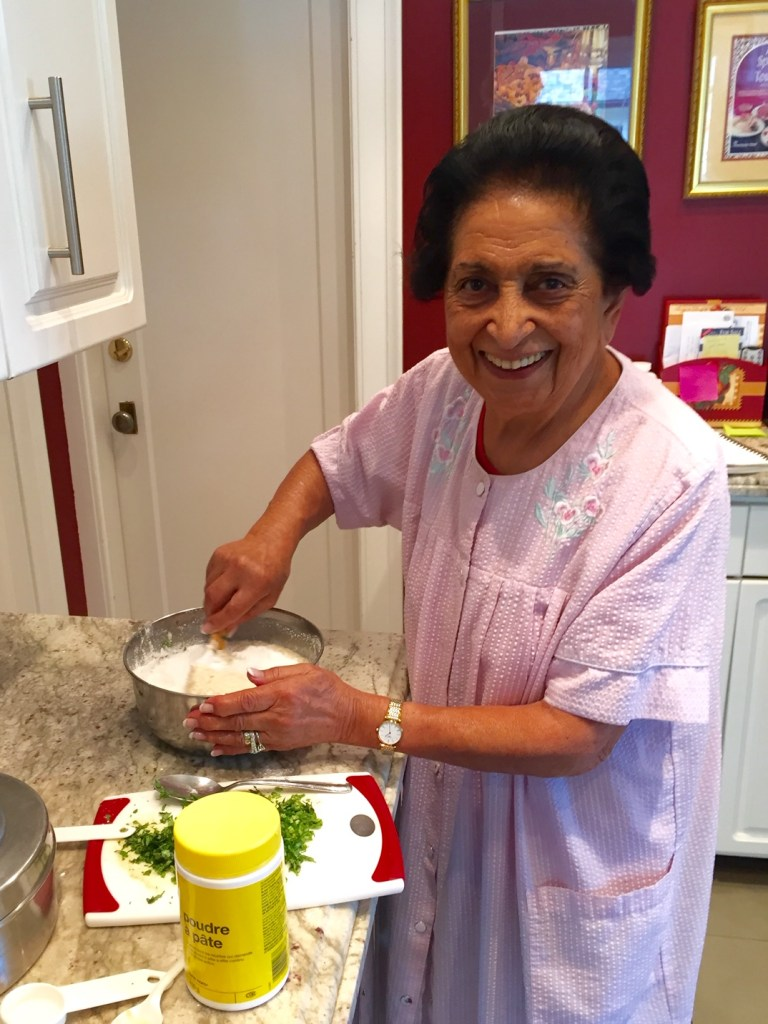 Noorbanu Nimji - at work in her kitchen