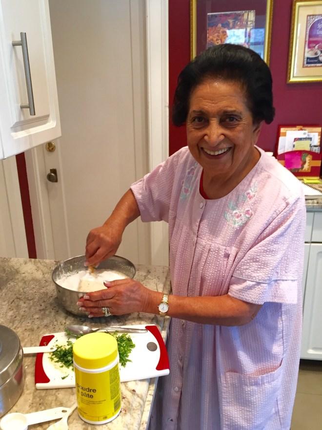 Noorbanu Nimji - at work in her kitchen