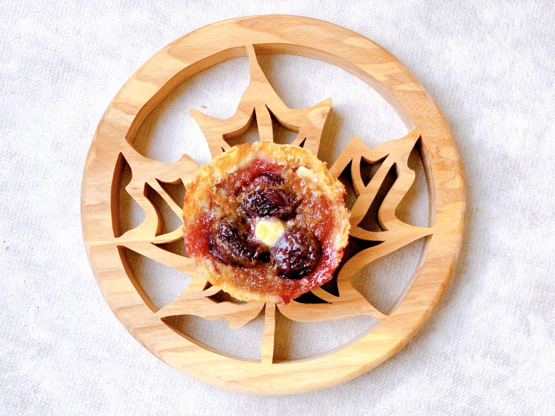 Bing Cherry Butter Tarts - single tart