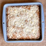 Good Old-Fashioned Crumb Cake - top down view