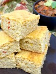 Banana Pepper Cornbread - close up