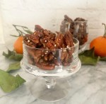 Candied Rosemary Pecans - close up