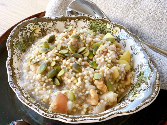 Buckwheat Apple Porridge - side view