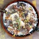 Foraged Mushroom Cream Sauce - overhead photo