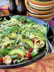 Garden Fresh Zoodle Salad - close up