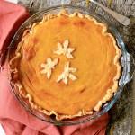 Stonepost Farms' Pumpkin Pie - overhead photo