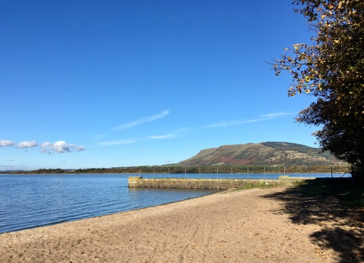 Part-way round Loch Leven is a surprise beach. Great for dogs!
