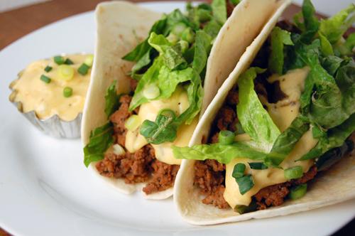chorizo poblano beef tacos w pepper jack cheese sauce savour the senses. Black Bedroom Furniture Sets. Home Design Ideas