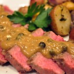 Throwback Thursday: Sauteed Steak w/ Green Peppercorn Sauce