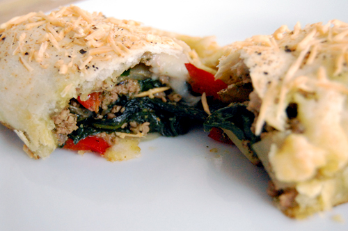 Savory pesto sausage spinach turnovers savour the senses if you are a food blogger you should definitely get this plugin it helps your recipes get noticed on big search engines like google by formatting them forumfinder Gallery