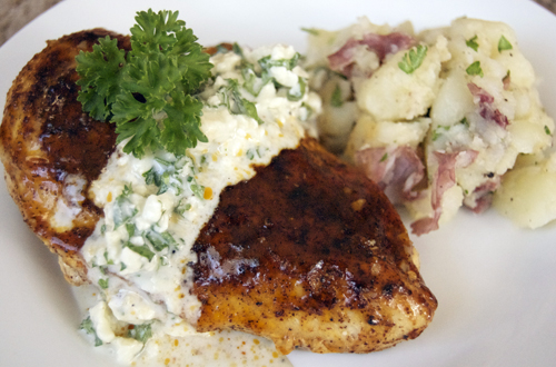 Buffalo Style Chicken Breasts W Bleu Cheese Sauce Savour The Senses