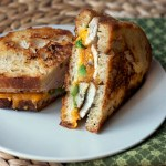 Chicken & Broccoli Grilled Cheese