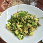 Spring Green Quinoa w/ Lemon, Basil & Acovado Dressing