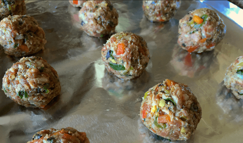 Thai Quinoa Meatballs Raw