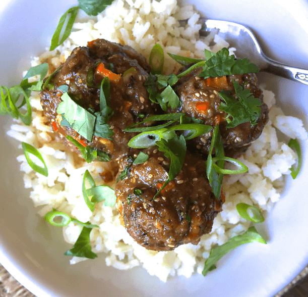 Thai Quinoa Meatballs Close