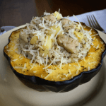 Maple-Sage Pork & Apple Stuffed Acorn Squash