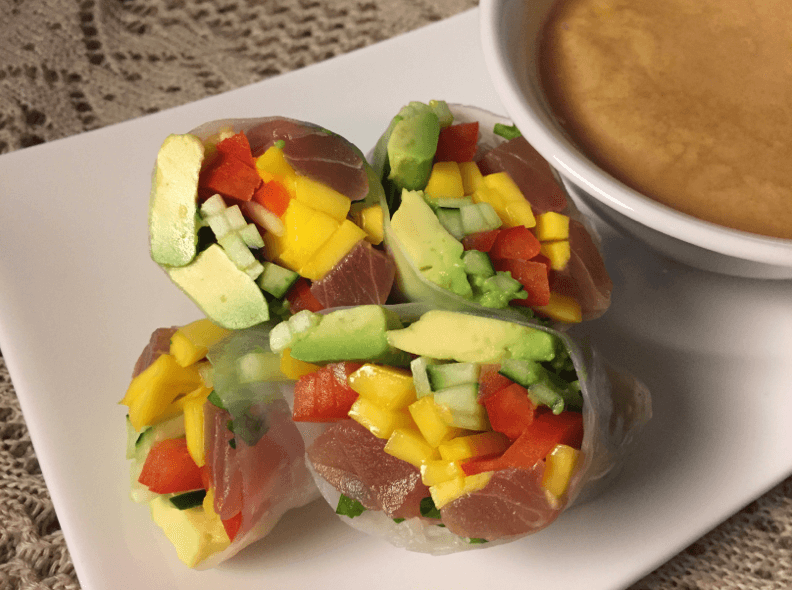 Ahi-Tuna-Summer-Rolls-Coconut-Dipping-Sauce