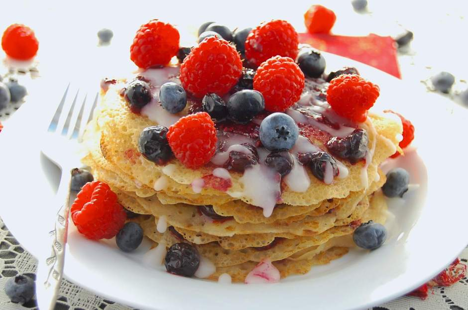 eggless-crepe-cake-berry-compote-recipe