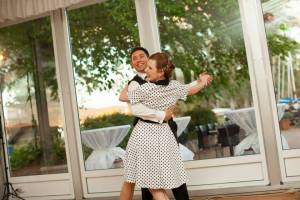 Couple at their wedding dance