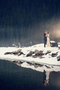 couple shooting outdoor