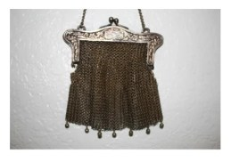 W.B. Co. vintage German silver evening bag