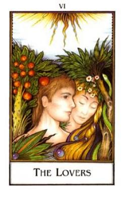Palladini tarot deck.-The Lovers