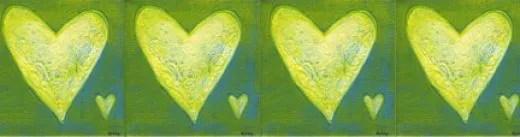 green heart divider bar