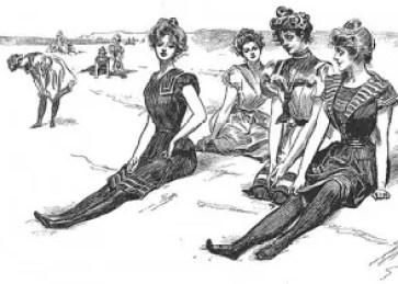 Gibson Girls at the beach