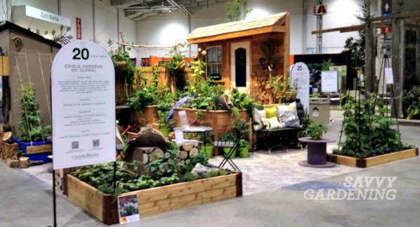 The incredible edible garden created by the Toronto Botanical Garden at Canada Blooms in 2014.