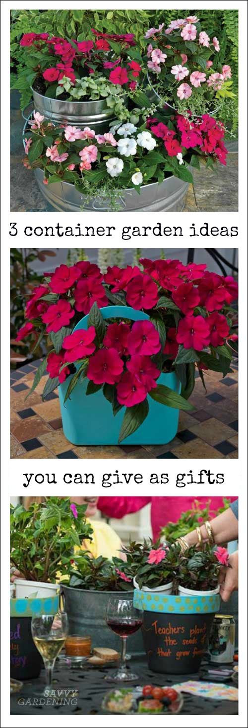 Easy projects—gift bag containers, painted terracotta pots, and a tiered planter—that you can make for Mother's Day, teachers' gifts, and more. (AD)