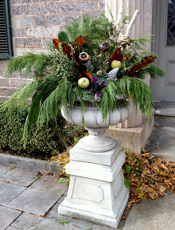 accessorize your winter container garden