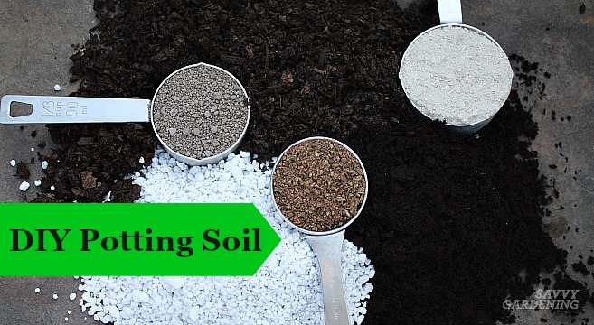 Make your own potting soil with these recipes