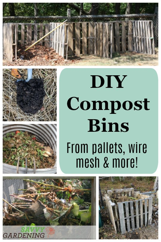 Build a DIY compost bin from commons materials.