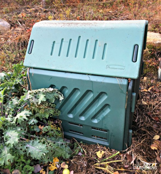 Plastic compost bins can slow the decomposition process.
