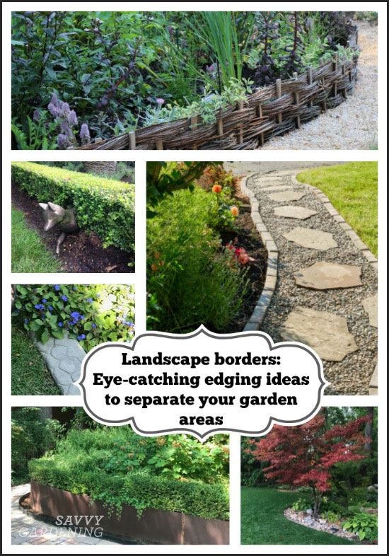 landscape borders for the garden