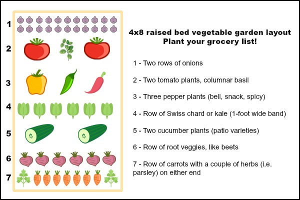 Plant your grocery list when deciding what to plant in a raised bed