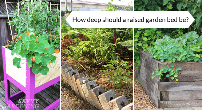 How deep should a raised garden bed be